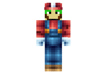 Boy With Green Hair Mario Skin For Minecraft Minecraft Skins